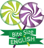 Bite Size English Logo, Online English Development Program, Kaleidoprax